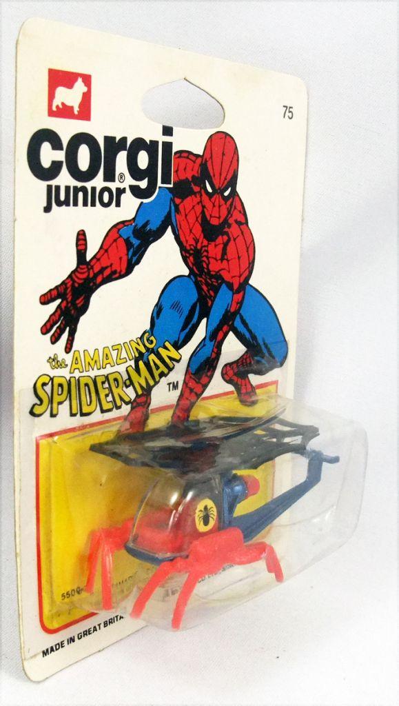 Spiderman - Corgi Junior Ref. 75 - Spidercopter (mint on card)