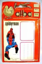 Spiderman- Alba -  School I.D. Stickers
