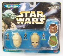 Star Wars - Galoob MicroMachines - Mini-Heads Collection IV (Bib Fortuna, Figrin D\'An & Scout Trooper)