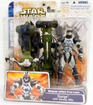 Star Wars (Clone Wars) - Hasbro - Durge with Swoop Bike