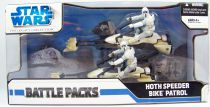 Star Wars (Legacy Collection) - Hasbro - Battle Packs : Hoth Speeder Bike Patrol