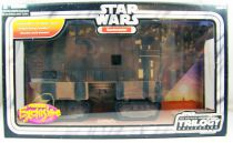 Star Wars (Original Trilogy Collection) - Hasbro -SandCrawler with Jawas & RA-7 Droid (loose with box)