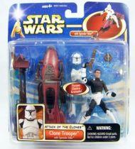 Star Wars (Saga Collection) - Hasbro - Clone Trooper (with Speeder Bike)