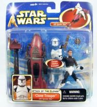 Star Wars (Saga Collection) - Hasbro - Clone Trooper (with Speeder Bike)