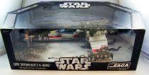 Star Wars (Saga Collection) - Hasbro - Luke Skywalker\'s X-Wing (with Dagobah Luke figure & Dragonsnake) loose with box