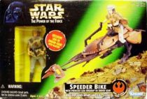Star Wars (The Power of the Force) - Kenner - Speeder Bike with Leia Organa