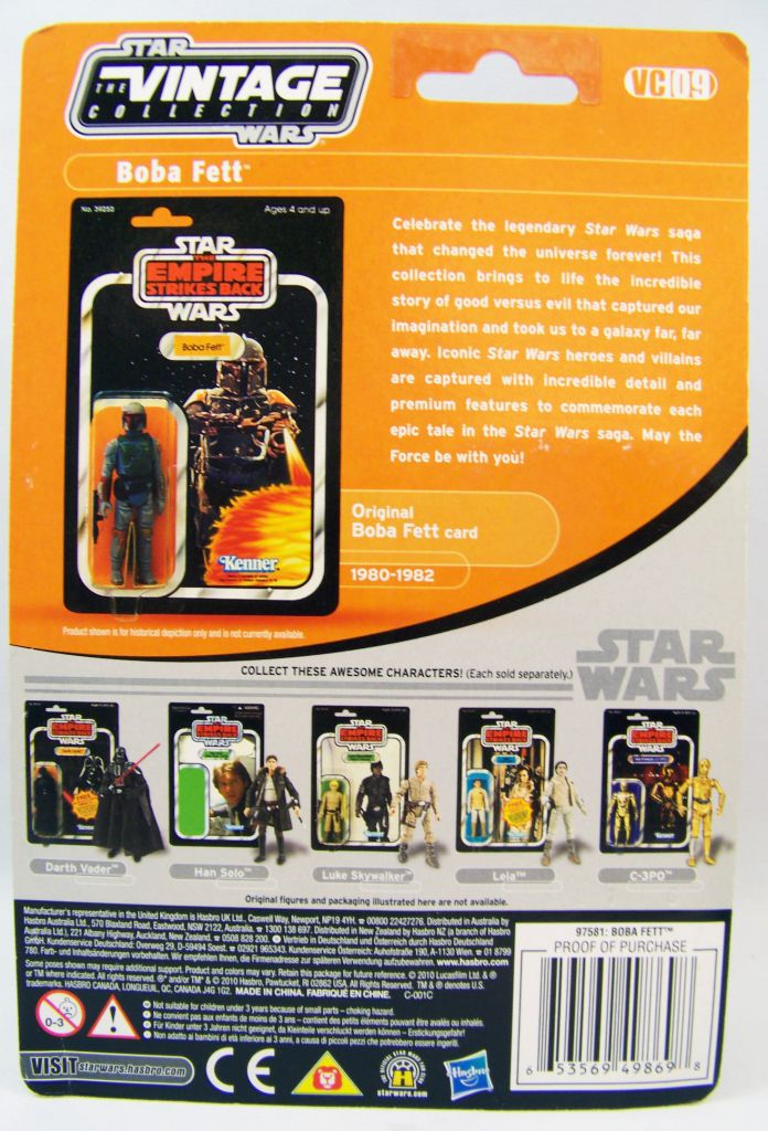 Star Wars (The Vintage Collection) - Hasbro - Boba Fett - Empire Strikes Back