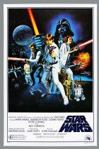 "Star Wars 1977 : A New Hope - Movie Poster Style C 24""x36\"" (Portal Publications Ltd 1992)"