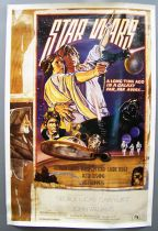 """Star Wars 1977: A New Hope - Movie Poster One Sheet Style D 27\""""x41\"""" (Fan Club Issue) 1995"""