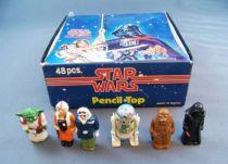 Star Wars 1982 - Lot de 6 Embouts à Crayon + Présentoir Magasin H.C. Ford