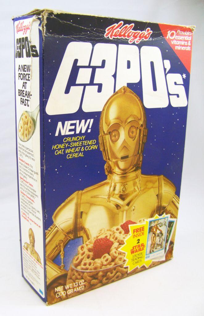 Star Wars 1984 - Kellogg\'s C-3PO\'s (Boite Vide + 2 Trading Cards) 02