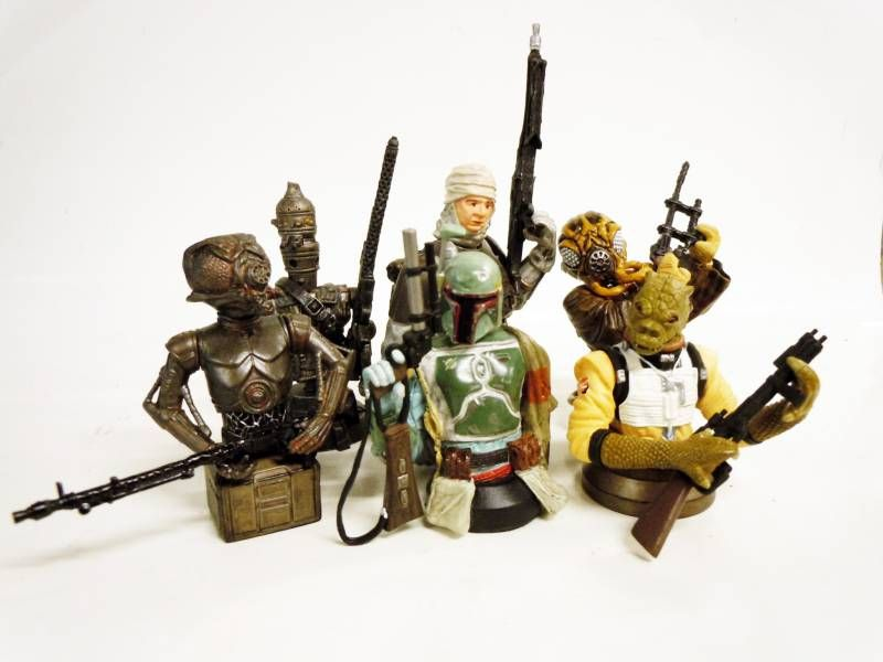 Star Wars Bust-Ups (Micro-Bust) Bounty Hunters (+ Darth Vader Mediation Chamber bonus)