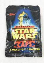 Star Wars Caps - Topps - 4 Milkcaps + 1 Slammer (Pogs)