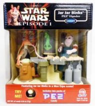 Star Wars Episode 1 - PEZ dispenser - Jar Jar Binks in a Mos Espa scene