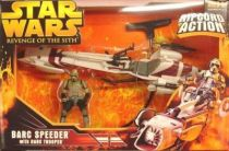 Star Wars Episode III (Revenge of the Sith) - Hasbro - Barc Speeder with Barc Trooper