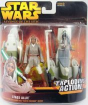 Star Wars Episode III (Revenge of the Sith) - Hasbro - Stass Allie & BARC Speeder (Exploding Action)