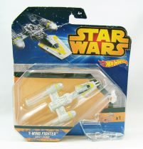 Star Wars Hot Wheels - Mattel - Y-Wing Fighter Gold Leader
