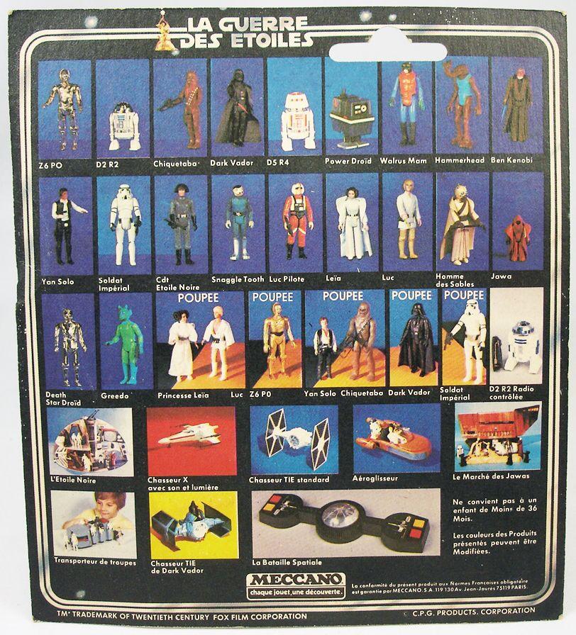 Star Wars La Guerre des Etoiles 1979 - Meccano - Cispeo Z-6PO carte carrée (1)
