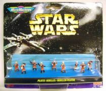 Star Wars MicroMachines - Rebel Pilots - Galoob-Ideal