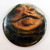 Star Wars Return of the Jedi 1983 Button - Jabba the Hutt