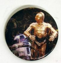 Star Wars Return of the Jedi 1983 Button - R2-D2 & C-3PO
