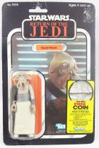 "Star Wars ROTJ 1983 - Kenner 77back - Squid Head ""Free Coin offer\"""
