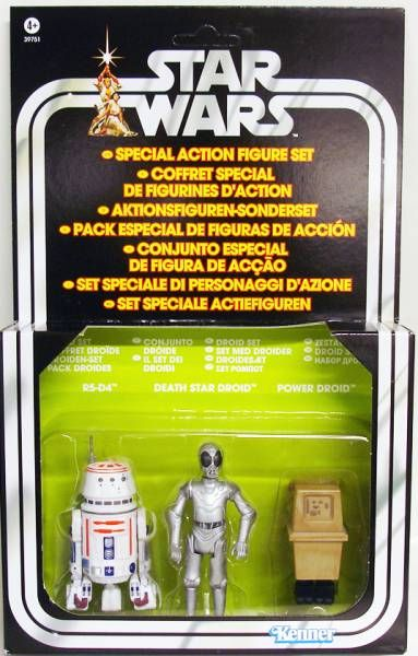 Star Wars vintage style - Hasbro - Special Droid Set - R5-D4, Death Star Droid, Power Droid - Star Wars