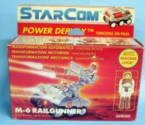 Starcom - Coleco - M-6 Railgunner (loose with box)