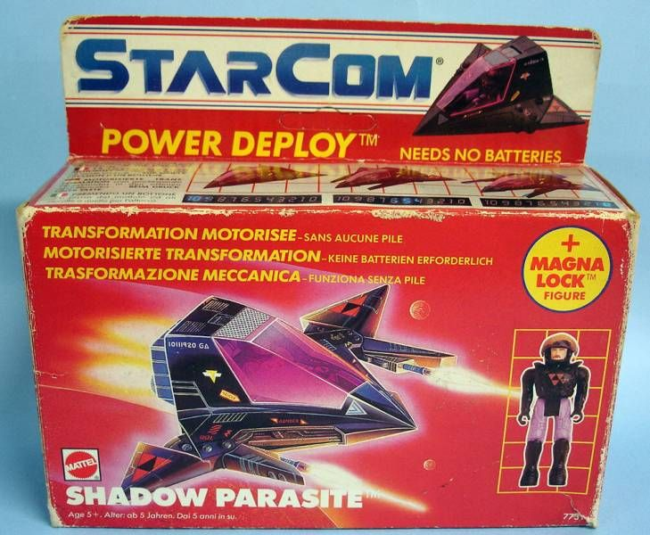 Starcom - Mattel - Shadow Parasite (loose with box)