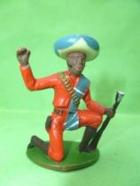 Starlux -  Gauchos - Series 53 - Footed Kneeling with rifle (orange) (ref 247)