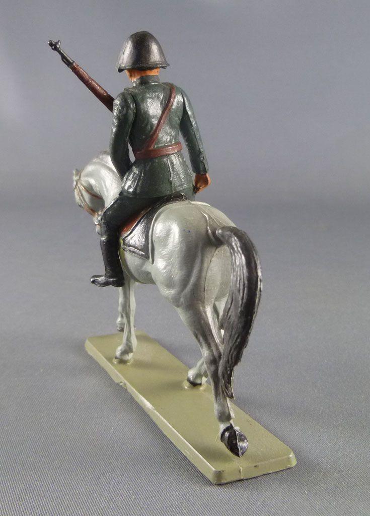 Starlux - Armée Helvétique - Cavalier Dragon Suisse Fusil Poitrine Casque Noir (réf DS205)