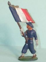 Starlux - Chasseurs Alpins - Type 1 - Flag Holder (réf 38)