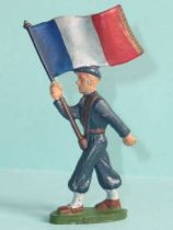 Starlux - Chasseurs Alpins - Type 2 - Flag holder (réf 38)