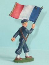 Starlux - Chasseurs Alpins - Type 2 - Flag holder (réf 38)