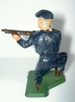 Starlux - Chasseurs Alpins - Type 3 - Firing rifle kneeling (ref 22 rectangular base)