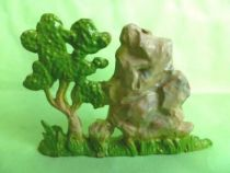 Starlux - Cow-Boys - Accessories - Rock with Tree (ref AD14)