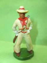 Starlux - Cow-Boys - Series 46 - Footed Rifle on back (white) (ref CB4)
