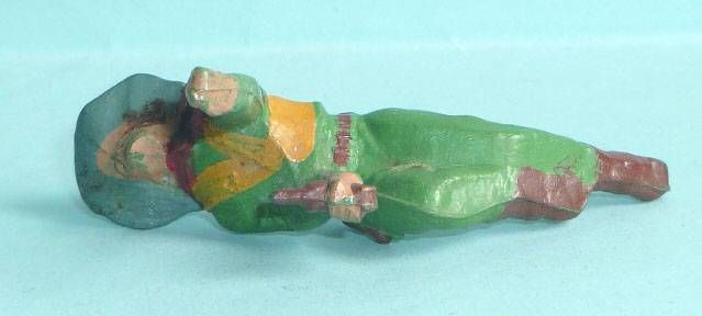 Starlux - Cow-Boys - Series 53 - Footed Crawling with gun (green) (réf 127)