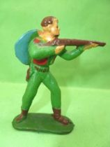 Starlux - Cow-Boys - Series 53 - Footed Firing rifle standing (green) (réf 121)
