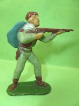 Starlux - Cow-Boys - Series 53 - Footed Firing rifle standing (grey green) (réf 121)