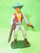 Starlux - Cow-Boys - Series 53 - Footed Rifle & pistol (grey) (réf 132)