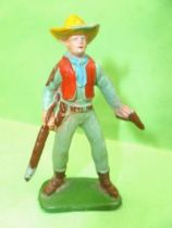 Starlux - Cow-Boys - Series 53 - Footed Rifle & pistol (grey green) (réf 132)