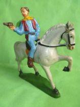 Starlux - Cow-Boys - Series 53 - Mounted Firing gun on side hat on back (ref 414)