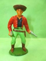 Starlux - Cow-Boys - Series 55/56 (Luxe) - Footed 2 guns (red & green) (r�f C 2130)