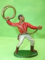 Starlux - Cow-Boys - Series 55/56 (Luxe) - Footed Lasso (red & grey) (réf C 2128)