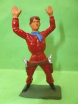 Starlux - Cow-Boys - Series 57 (Regular) - Footed Both hands up (red) (ref 126)