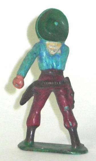 Starlux - Cow-Boys - Series 57 (Regular) - Footed Hand on gun (blue & red) (ref 129)