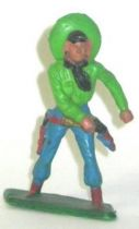 Starlux - Cow-Boys - Series 57 (Regular) - Footed Hand on gun (green & blue) (ref 129)
