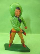 Starlux - Cow-Boys - Series 57 (Regular) - Footed Hand on gun (green & light brown) (ref 129)