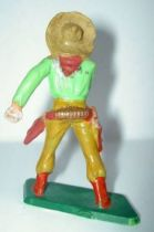 Starlux - Cow-Boys - Series 57 (Regular) - Footed Hand on gun (light brown & green) (ref 129)